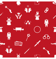 magician and magic theme set of icons seamless red vector image vector image