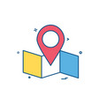 map location navigation icon desige vector image