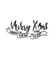 merry x-mas and happy new year holiday modern dry vector image