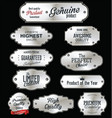 metal plates premium quality silver collection vector image