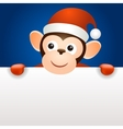 Monkey 2016 christmas new year banner template vector image vector image