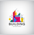 multicolor real estate logo design vector image vector image