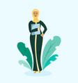 muslim business woman vector image vector image