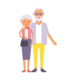 Old couple people vector image vector image