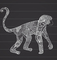 ornamental hand drawn sketch monkey in vector image vector image