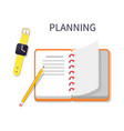 planning poster and notebook vector image