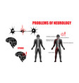 problems of neurology vector image vector image