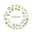 recycling ecological concept recycling ecological vector image