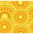 seamless mandala sun yelow vector image vector image