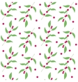 Seamless pattern branches and leaves of camu camu vector image vector image