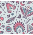 seamless pattern with native American vector image vector image