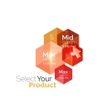 Select choice template vector image