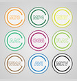 set of colored icons for popular file types vector image vector image