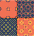 Set of geometric pattern vector image vector image