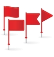 Set of red pin flags vector image