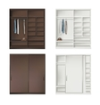 Set Of Wardrobes vector image