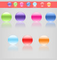 set seven beautiful buttons in different colors vector image