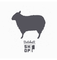 Sheep silhouette Lamb meat Butcher shop logo vector image vector image