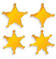sheriffs badges vector image