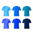 shirt design template set men t navy blue vector image
