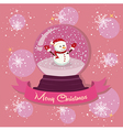 Snowman Snowball Snowflakes vector image