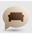 Sofa sign Brown gradient icon on vector image vector image
