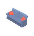 Sofa with red pillows 3d isometric design vector image