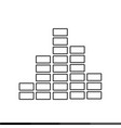 sound bars pulse icon design vector image vector image
