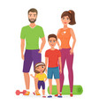 sport lifestyle healthy young family with cute vector image