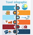 travel infographic template 6 positions vector image vector image