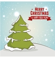 tree merry christmas isolated vector image