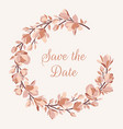 wreath with magnolia branches leaves blooming vector image vector image