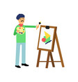 flat bohemian artist character at work vector image