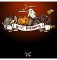 Hand-drawn Halloween Invitation Card vector image