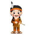 north american indian girl vector image