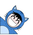 cat costume vector image