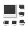 set of blank vintage paper photo frame from vector image