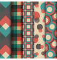 293retro pattern set vector image vector image