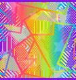 abstract rainbow geometric pattern vector image vector image