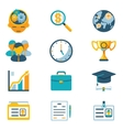 Assorted Colored Business Icons vector image vector image