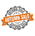 autumn sale stamp sign seal vector image