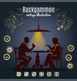backgammon vintage style design vector image vector image