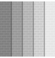 background Wall of gray bricks Eps 10 vector image