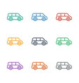 car icon white background vector image vector image
