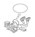 Cartoon Boy Reading