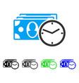 cash credit flat icon vector image vector image