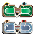 Casino furniture Baccarat table top view set 4 vector image vector image