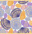 colored background with seashells vector image vector image