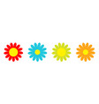 colorful daisy chamomile icon set line cute vector image