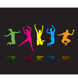colourful jumpers vector image